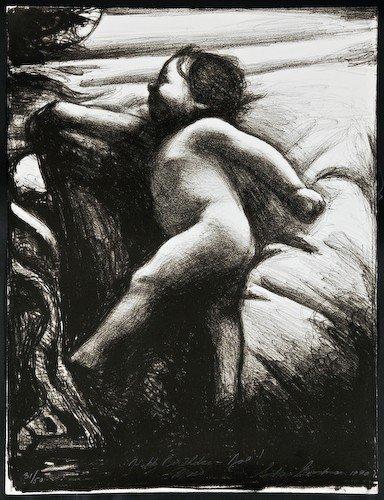 "9: Sidney Goodman ""Maia"" 1990, lithograph, #31/50"