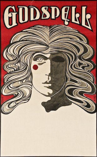 "11: David Byrd ""Godspell Poster"" c. 1973 offset litho"