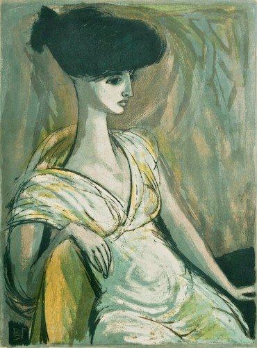 "15: Benton Murdoch Spruance ""White Figure"" 1959 litho"