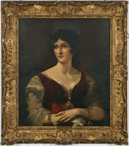 "16: John Watson Gordon ""Portrait of a Lady"" 1832 oil"