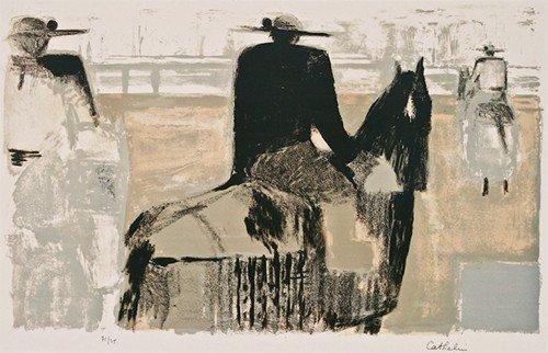 "21: Bernard Cathelin ""Untitled"" screenprint in colors"