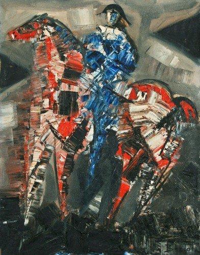 "22: Pierre Bosco ""Harlequin"" oil on canvas"