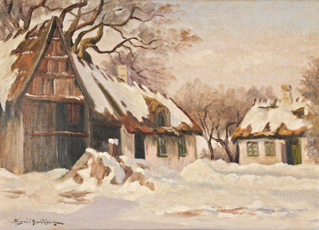 Sigrid Bech Knudsen, Untitled (Farmhouses in Winter)