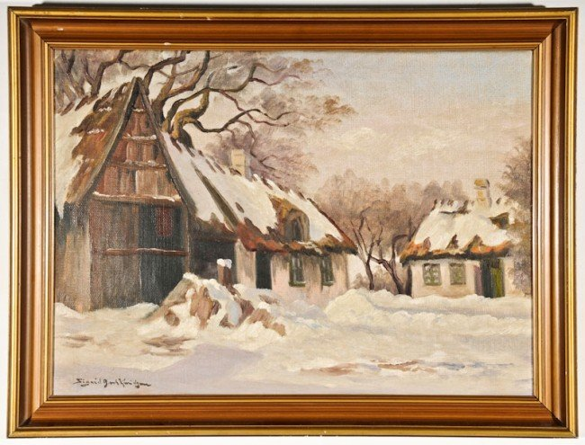 Sigrid Bech Knudsen, Untitled (Farmhouses in Winter) - 2