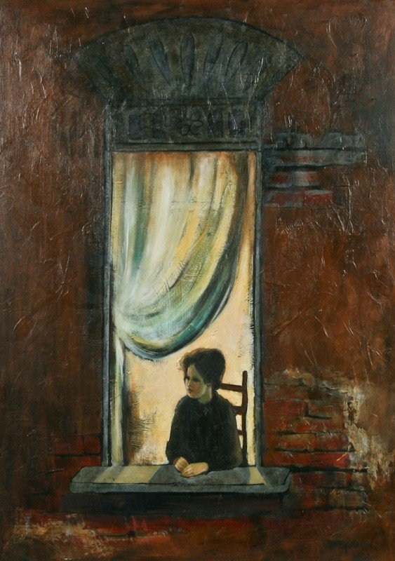 Betty Martin, Untitled (View of Woman in Window)