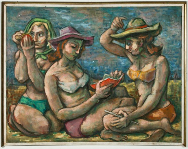 Samuel Heller, Untitled (Three Women at the Beach)