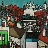 Claude V�nard, Le Sacr�-Coeur, Paris, oil on canvas