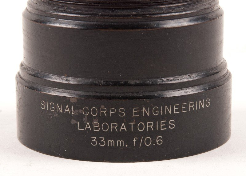 Signal Corps Engineering Laboratories 33mm f/0.6 Lens - 2