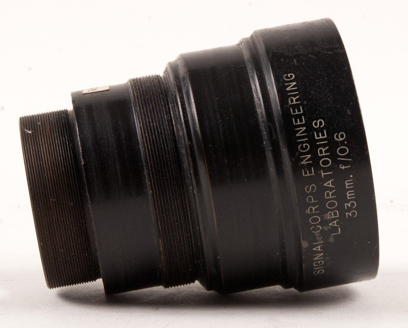 Signal Corps Engineering Laboratories 33mm f/0.6 Lens - 5
