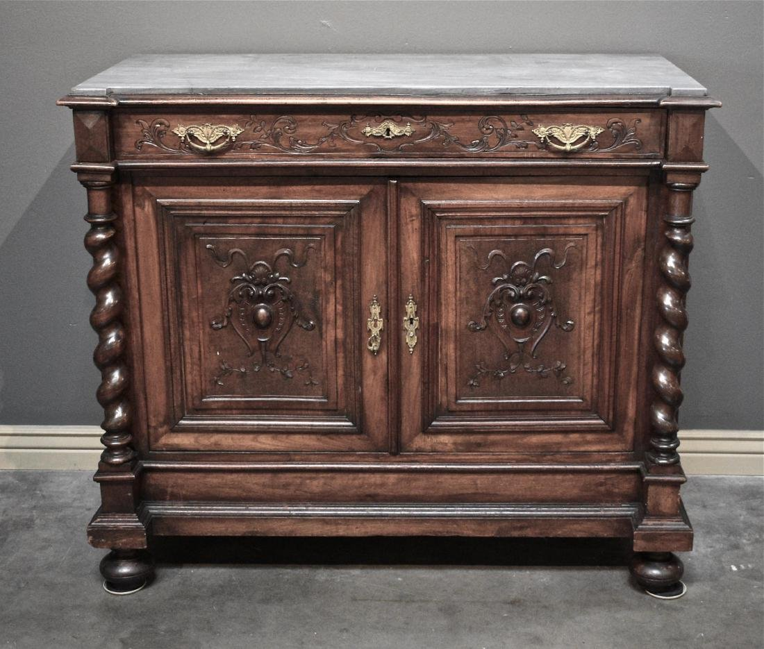 antique marble top buffet rh liveauctioneers com