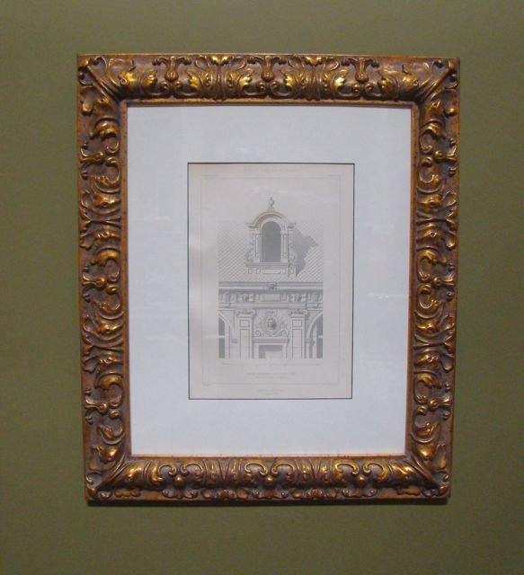 102: Pair French Architectural  Engraving 1865