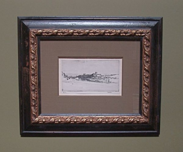 """103: Framed  Etching Reprint of """"Heart of Scotland"""""""