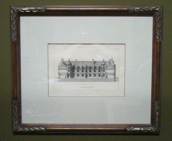 """110: Antique Architectural Rendering Mid 1800""""s"""