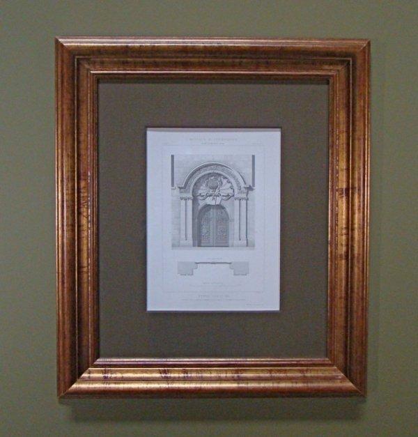113: Large Antique Architectural Engraving