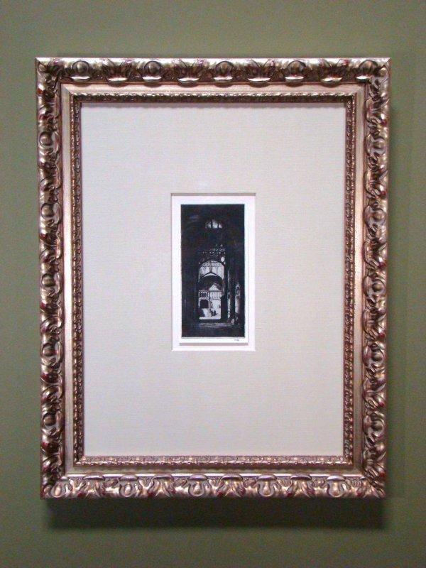 115: Vintage Engraving reprint Church Doorway