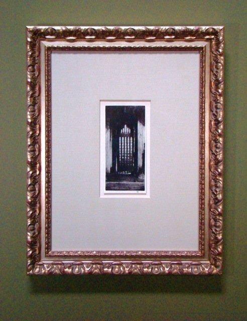 116: Vintage Engraving reprint Church Doorway