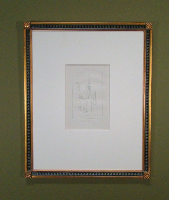 117: Pair Phallic Chandelier Engravings!