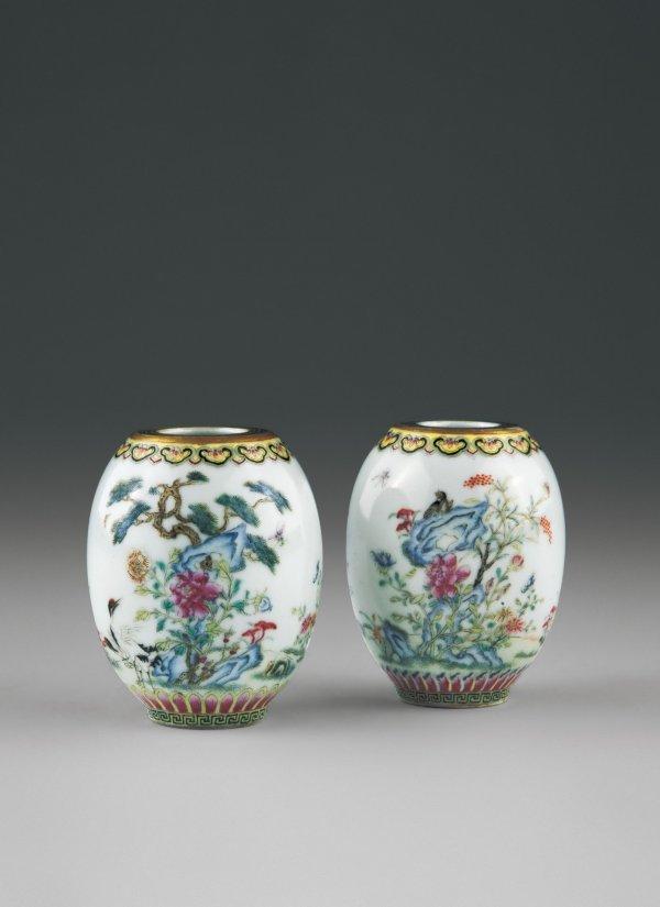 13: A Pair of Lantern-shaped Jars  Period:   Qing Dynas