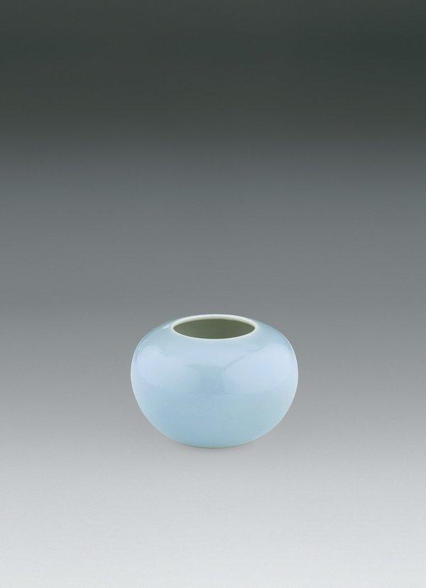 23: Blue Enamel Brush Washer  Period:   Yongzheng Perio