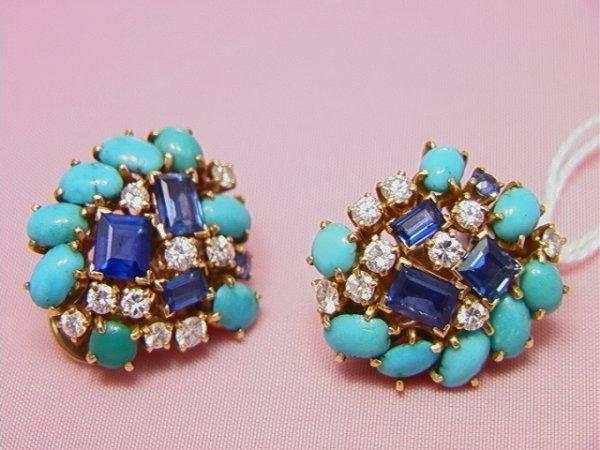 18: VAN CLEEF ARPELS sapphire diamond turquois Earrings