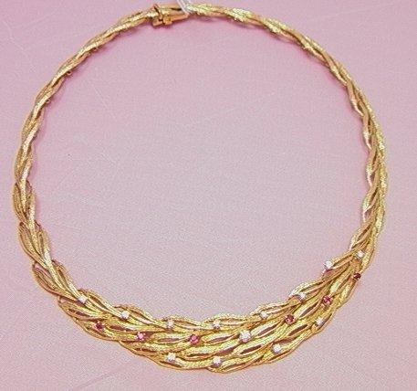 20: J. E. CALDWELL 18K yellow gold neck collar necklace