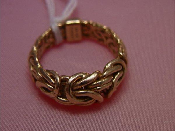 40: 14K yellow gold twisted wire ring, Turkey AK14K yel