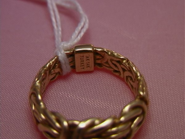 40: 14K yellow gold twisted wire ring, Turkey AK14K yel - 2