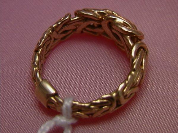 40: 14K yellow gold twisted wire ring, Turkey AK14K yel - 3
