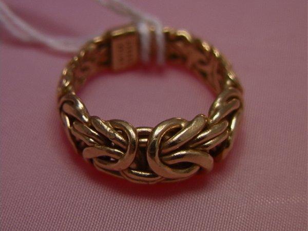 40: 14K yellow gold twisted wire ring, Turkey AK14K yel - 5