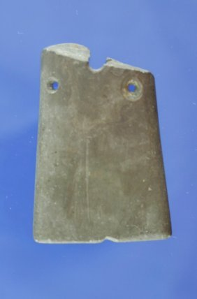 10A: Ohio Gorget that was salvaged into a pendant - mad
