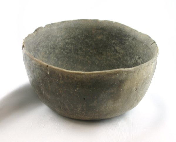 "10C: 4 1/4"" tall by 7 1/2"" wide Mississippian bowl - Ar"