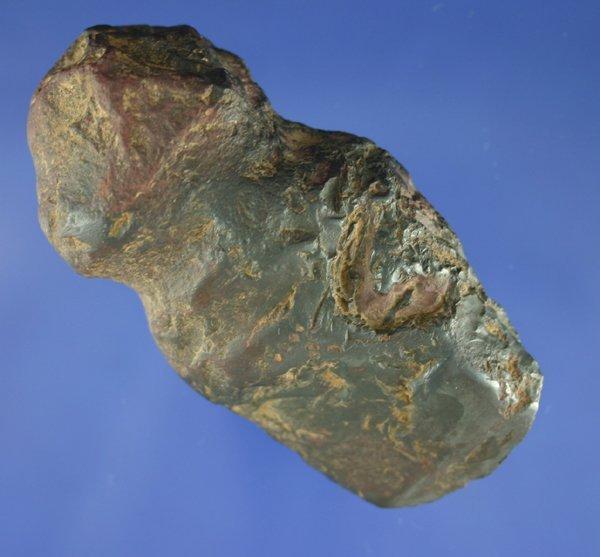 "109: 3 1/2"" Hematite full grooved Ax found in Iowa"