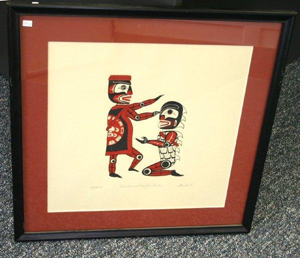 110D: Large Framed print signed by Artist Stan Hunt Lim