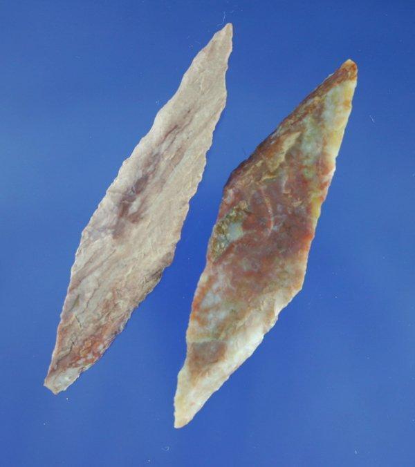 116: Pair of Harahey four bevel knives made from alibat