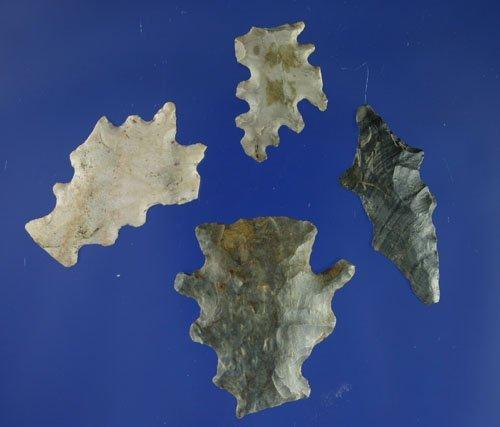 19: Set of 4 flint eccentrics found in OH.  AACA