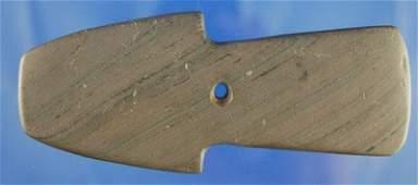 """309: AACA  4 3/8"""" Shovel Pendant - Banded Slate - Ohio"""