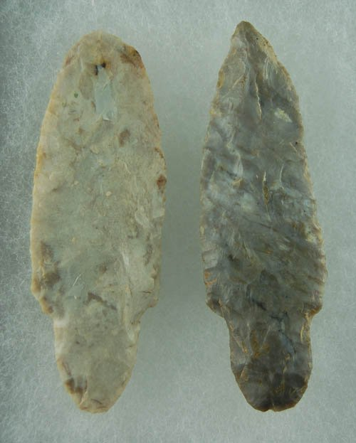 """14: Pair of Adena found in OH. 3 1/4"""".  Lar Hothem Coll"""