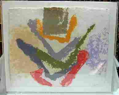 147: FRIEDEL DZUBAS Abstract /Handmade Paper 1981