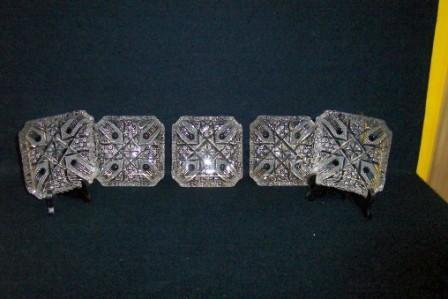 1: 5 20th C. Cut Crystal Dishes