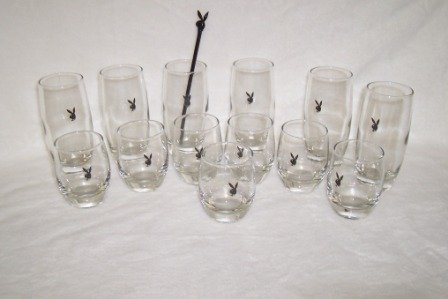 5: 1960's 70's Playboy Bunny Glasses