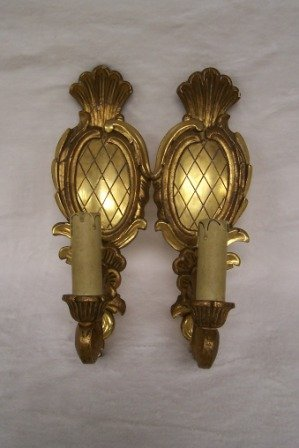 7: Pr 20th c. Gold Gilt Italian Wall Sconces