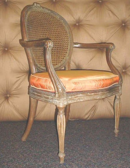 64: 19th C French Cain Chair