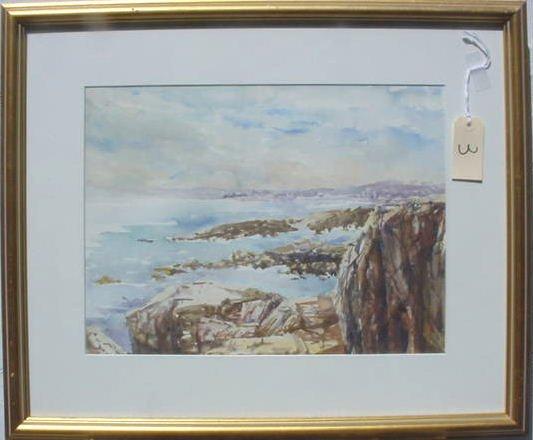 1003: MICHAEL WALEK WATERCOLOR ON PAPER SEASCAPE FLORID
