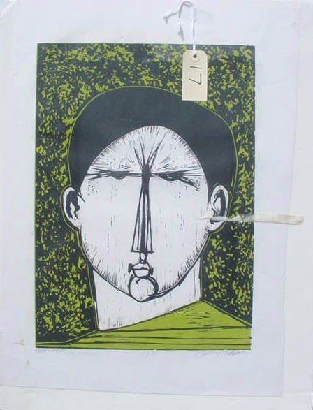 1017: PENCIL SIGNED MODERN ART LITHOGRAPH 12/30