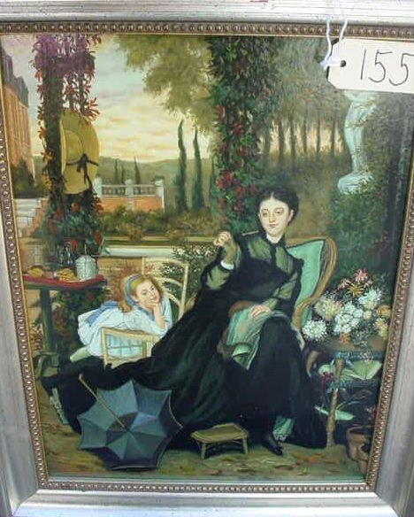 1155: VERY FINE OIL ON WOOD PAINTING SIGNED A BANCROFT