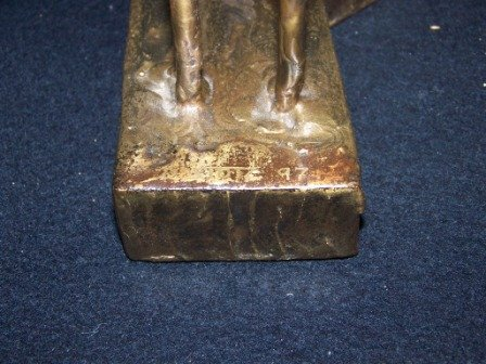 3: 20th c Bronze Sculpture signed D. Ztote - 3