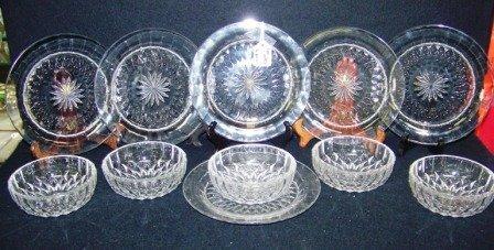 21: 6- Early Val st Lambert Plates & bowls