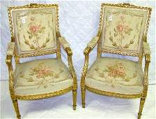 80 Pr 19c 20 c Fr Tapestry Chairs