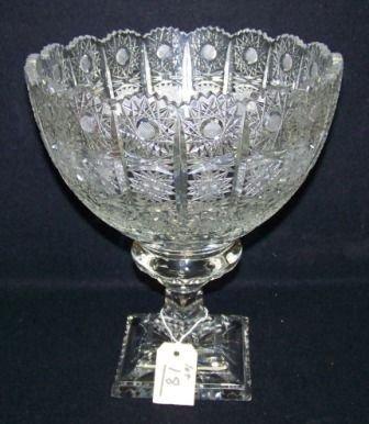 18: Fine Vintage Cut Crystal Center Pc Bowl