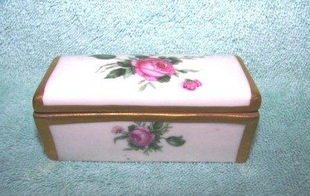 303: Vintage Orlik Painted Porcelain Stamp Box